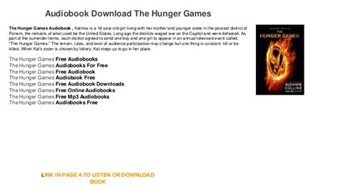 Audiobook mockingjay download mp3 streaming.